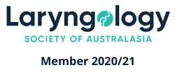 australian laryngology association logo