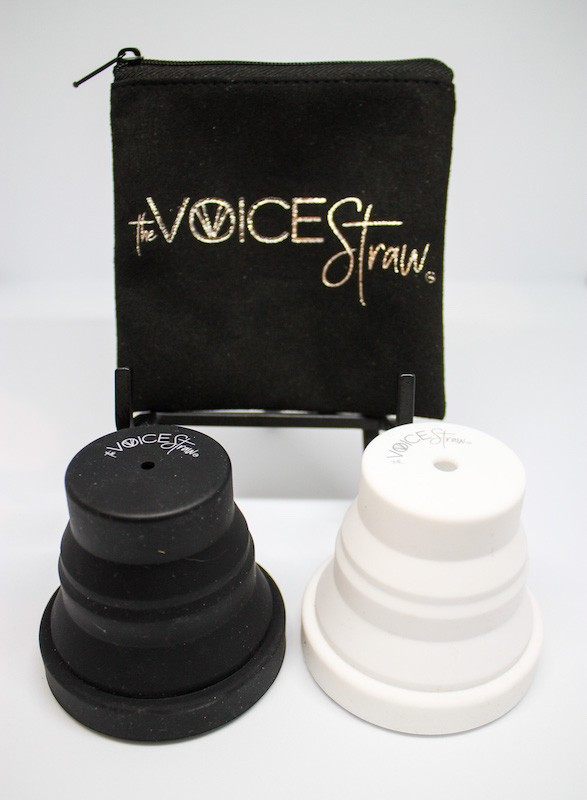 voice straw and cup
